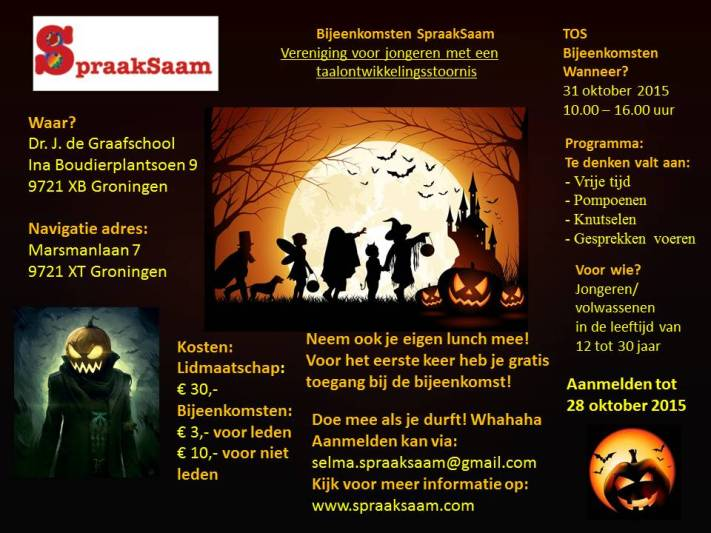 SpraakSaam poster 31 oktober 2015