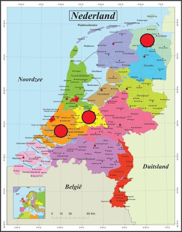 kaart Nederland paint